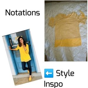 Notations Lightweight Sweater with attached Shirt